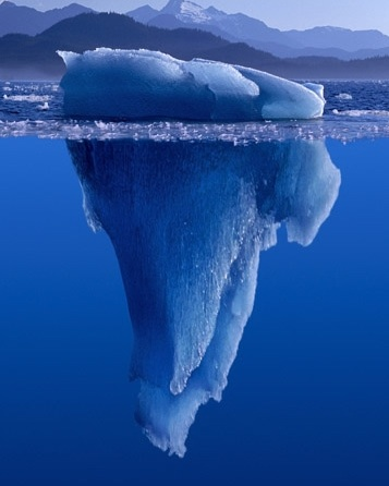 See an iceberg to see what's above water. Look below to discover much more.